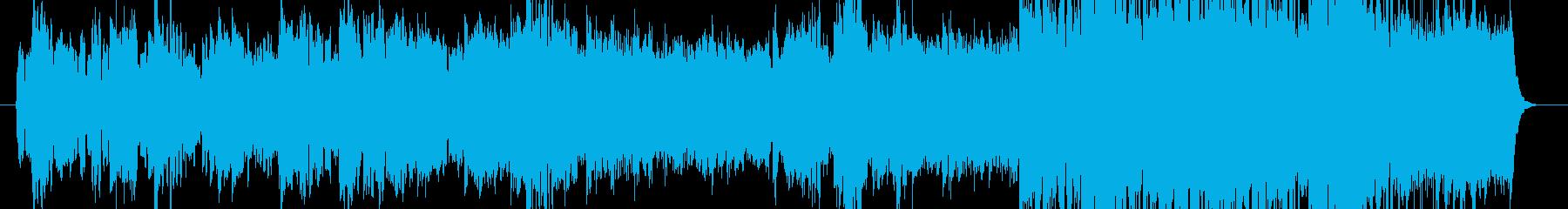 ゆったりとした和風BGMの再生済みの波形