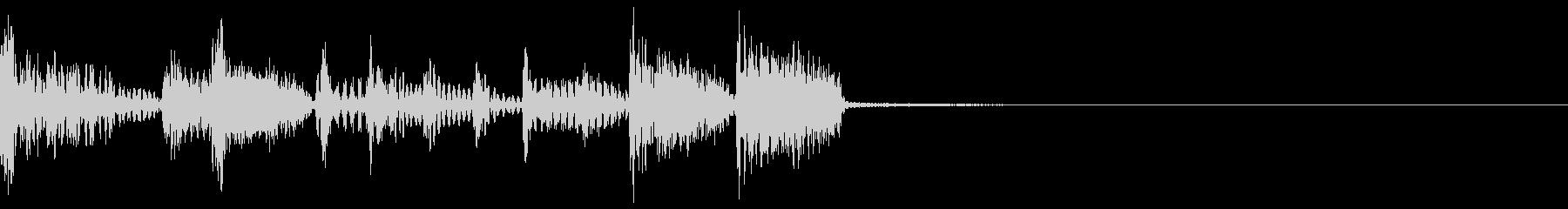 速めなスラップベースのジングルの未再生の波形