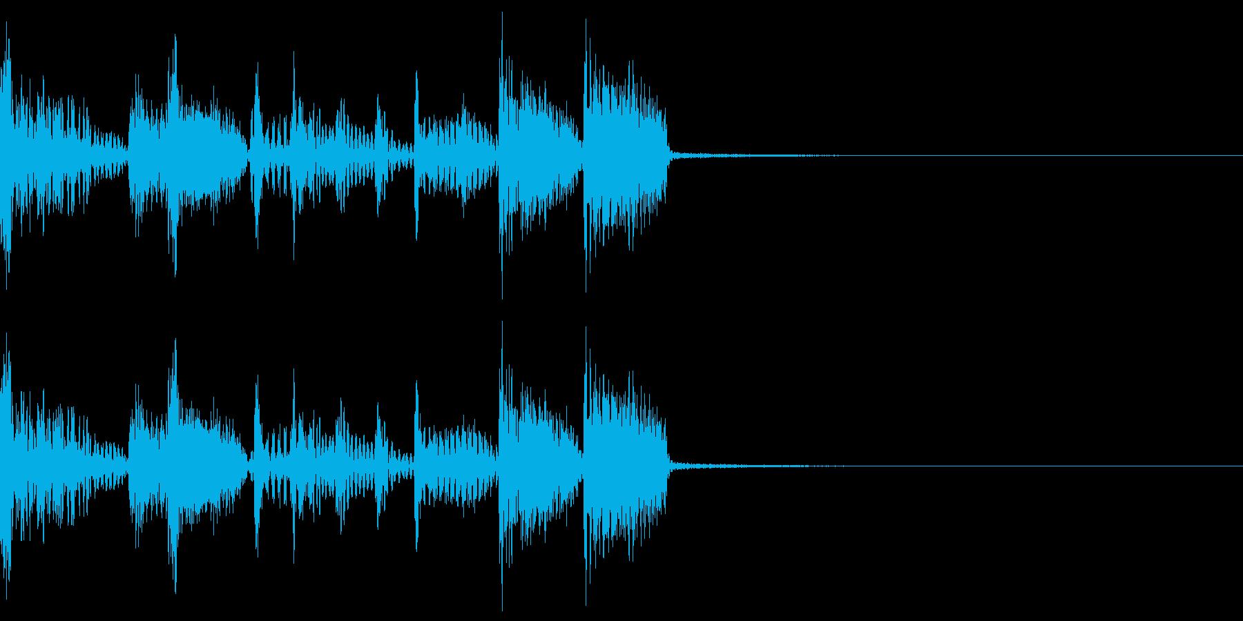 速めなスラップベースのジングルの再生済みの波形