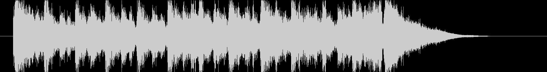 【ジングル】前向きなマーチ風ジングルの未再生の波形
