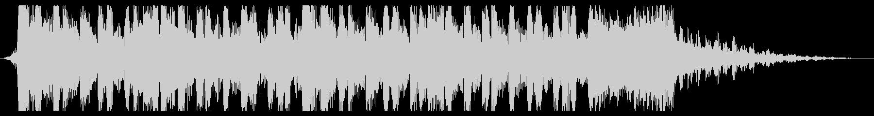 重いデジタルロック風サウンドロゴの未再生の波形