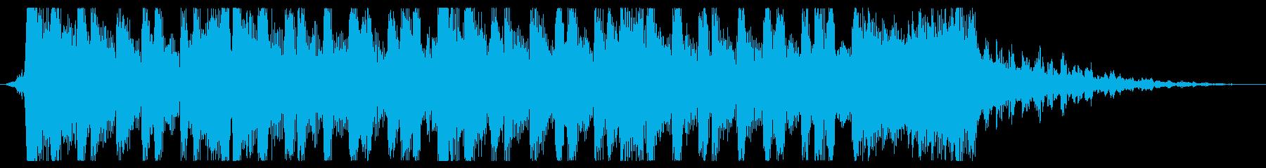 重いデジタルロック風サウンドロゴの再生済みの波形