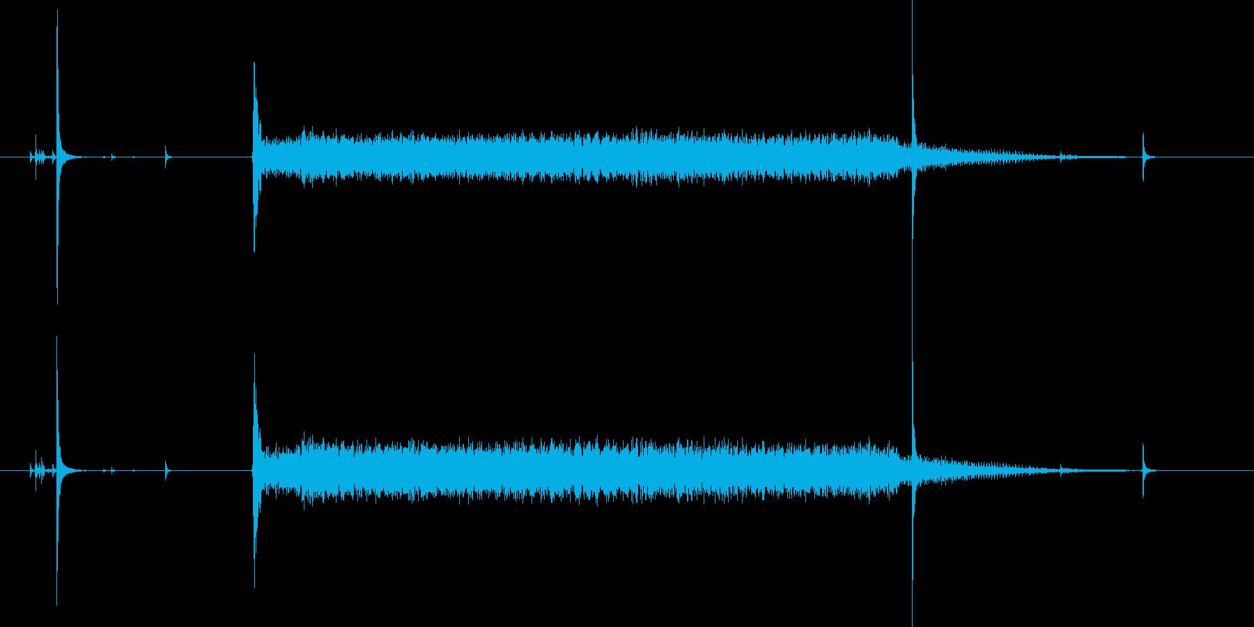 スイッチオン!ウィーン(マシーン音)の再生済みの波形