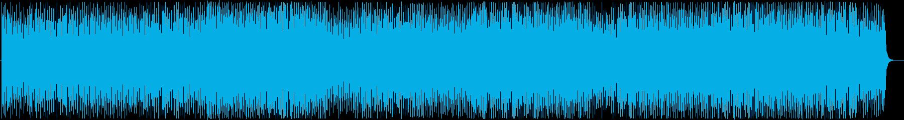 軽快で疾走感のあるテクノポップの再生済みの波形
