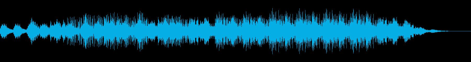 アンビエント風な打ち込み音楽の再生済みの波形