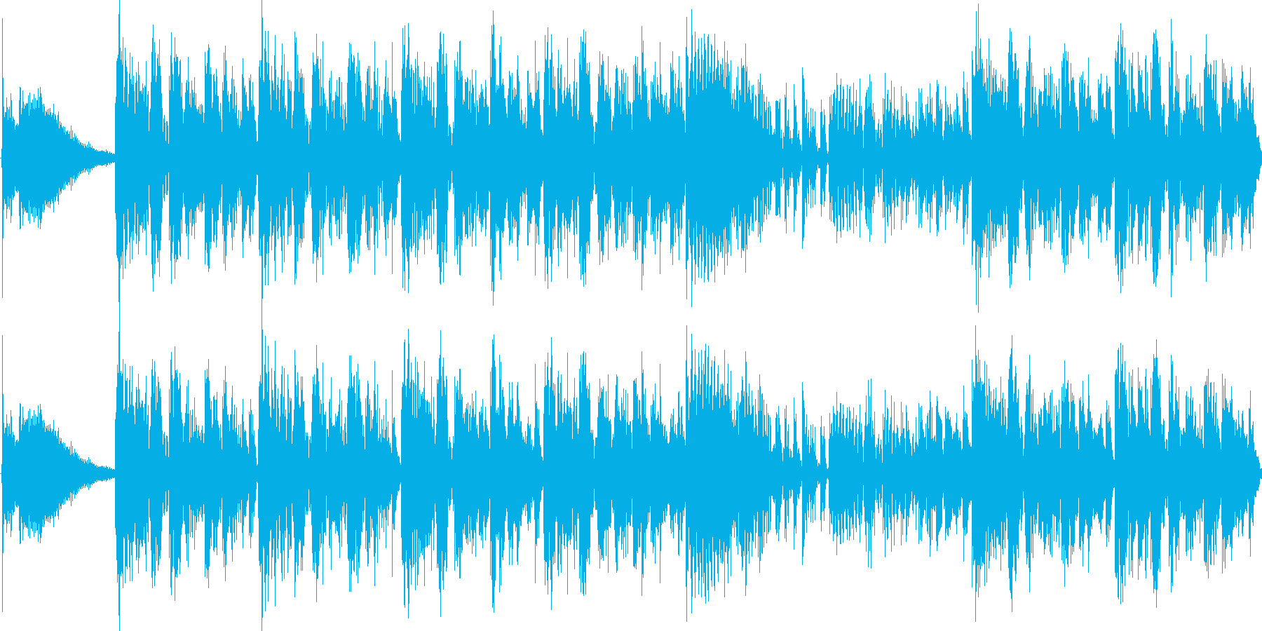 ピアノとシンセを使用したサウンドロゴですの再生済みの波形