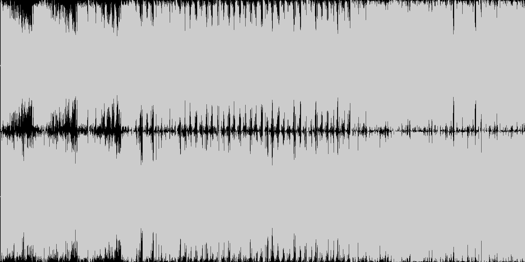 電脳世界を超スピードで駆け回るイメージ…の未再生の波形