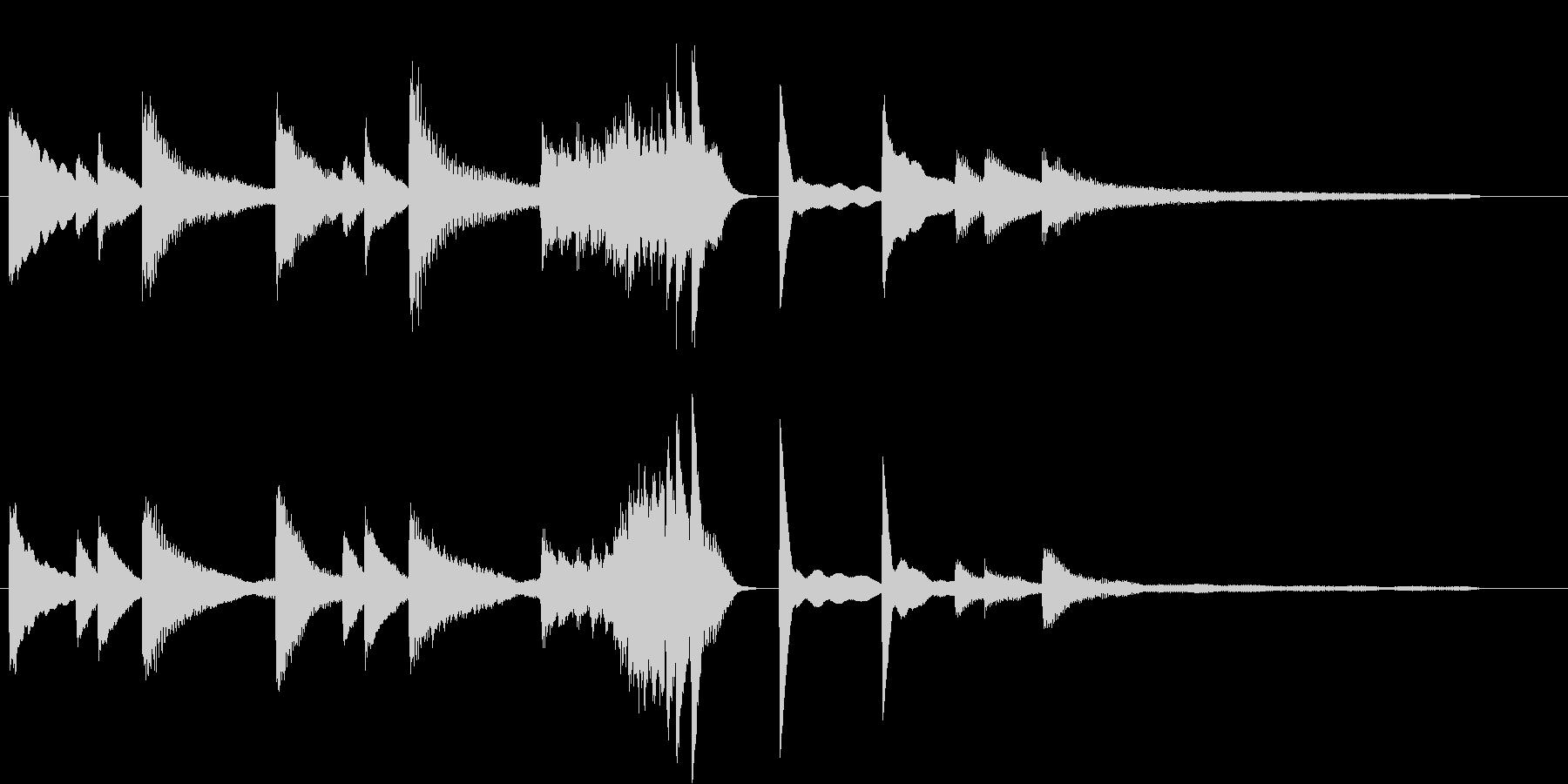 きよしこのよるモチーフのピアノジングルAの未再生の波形