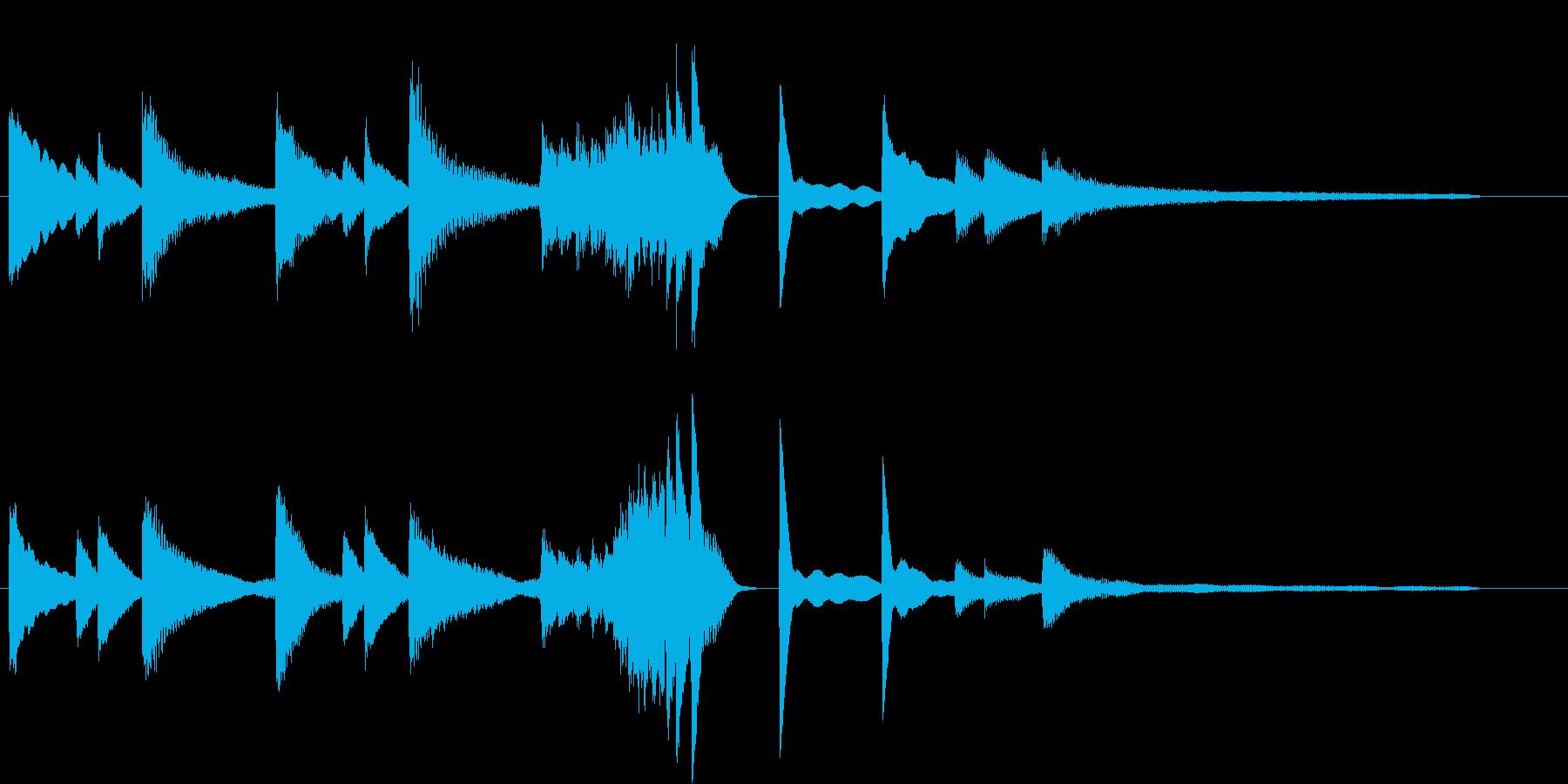 きよしこのよるモチーフのピアノジングルAの再生済みの波形