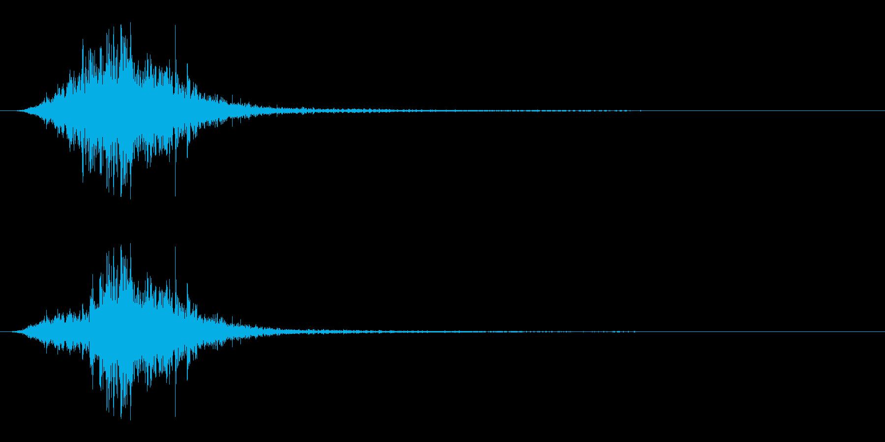 マントをバサッとする音3 ステレオ感の再生済みの波形