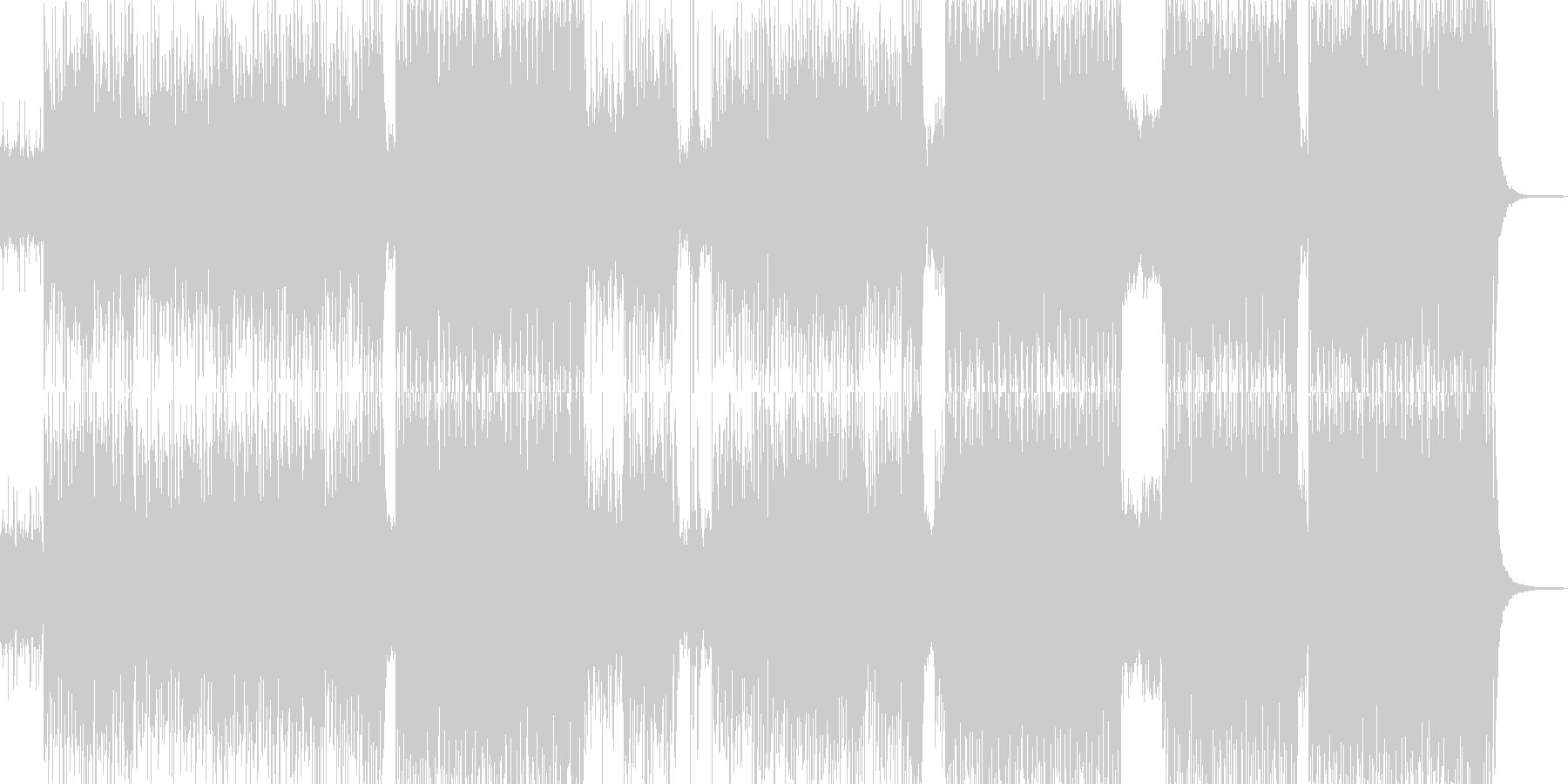 テーマパーク、夢気分なポップチューンの未再生の波形