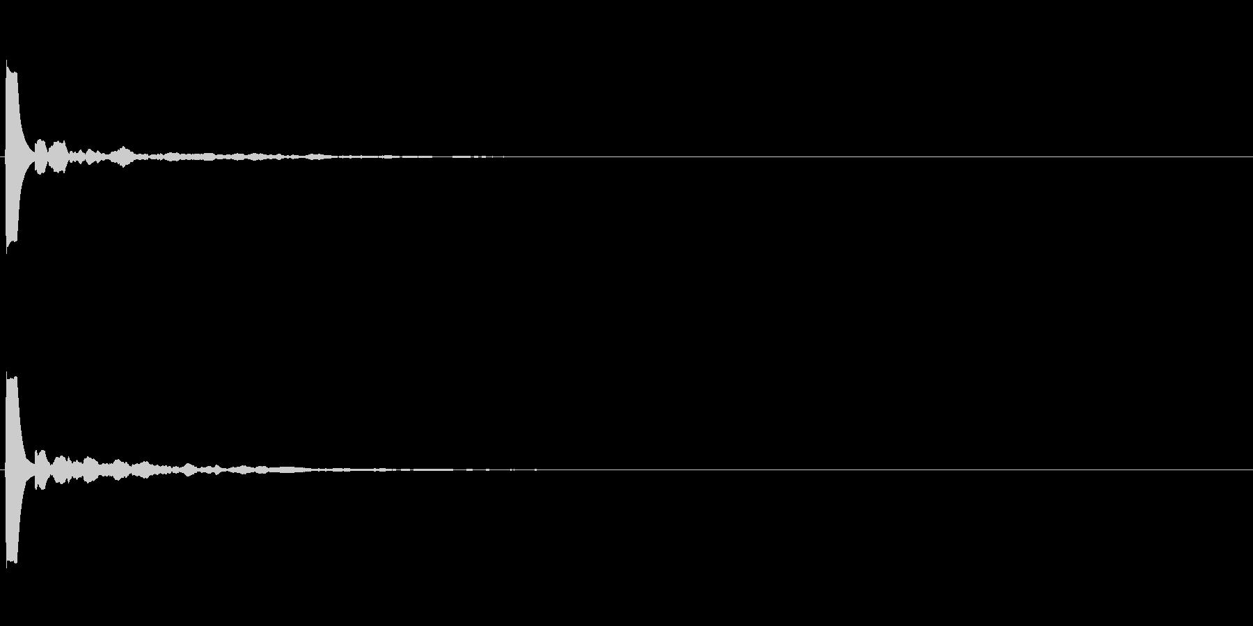 【アクセント03-1】の未再生の波形