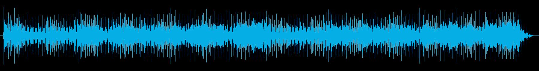 フュージョンギターインストBGMループ曲の再生済みの波形