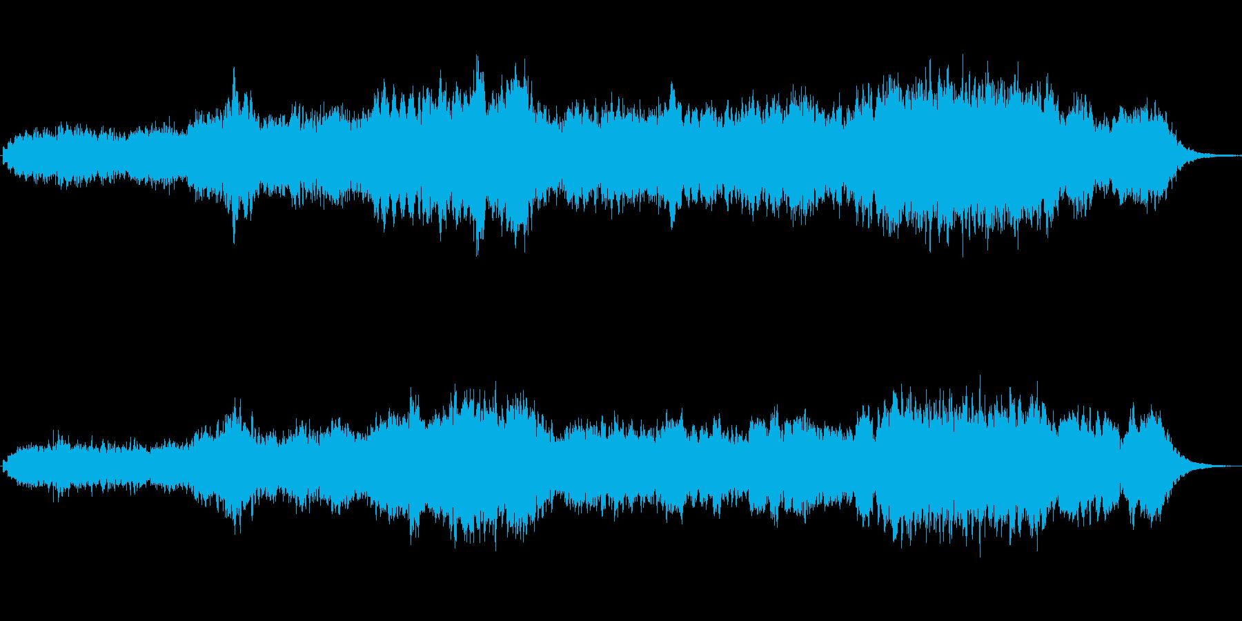 ニューエイジ風のキラキラしたジングルの再生済みの波形
