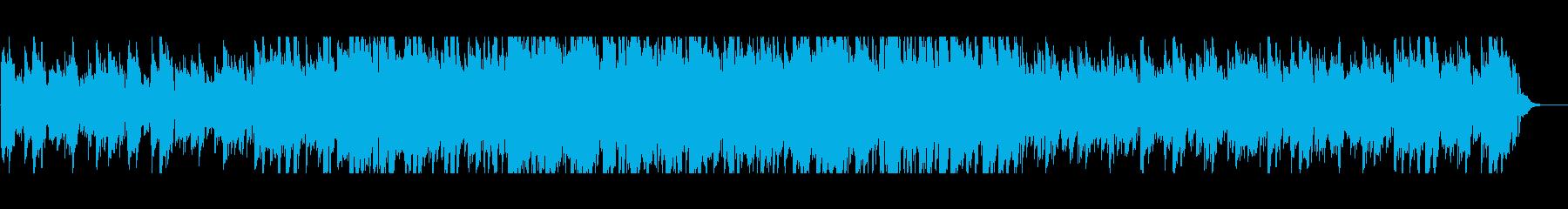 爽やかなピアノの旋律のハウスの再生済みの波形
