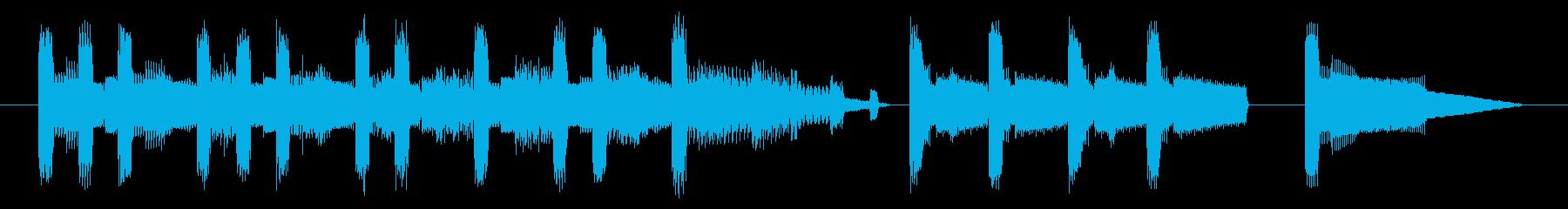 GB風パズル・カードゲームのジングルの再生済みの波形