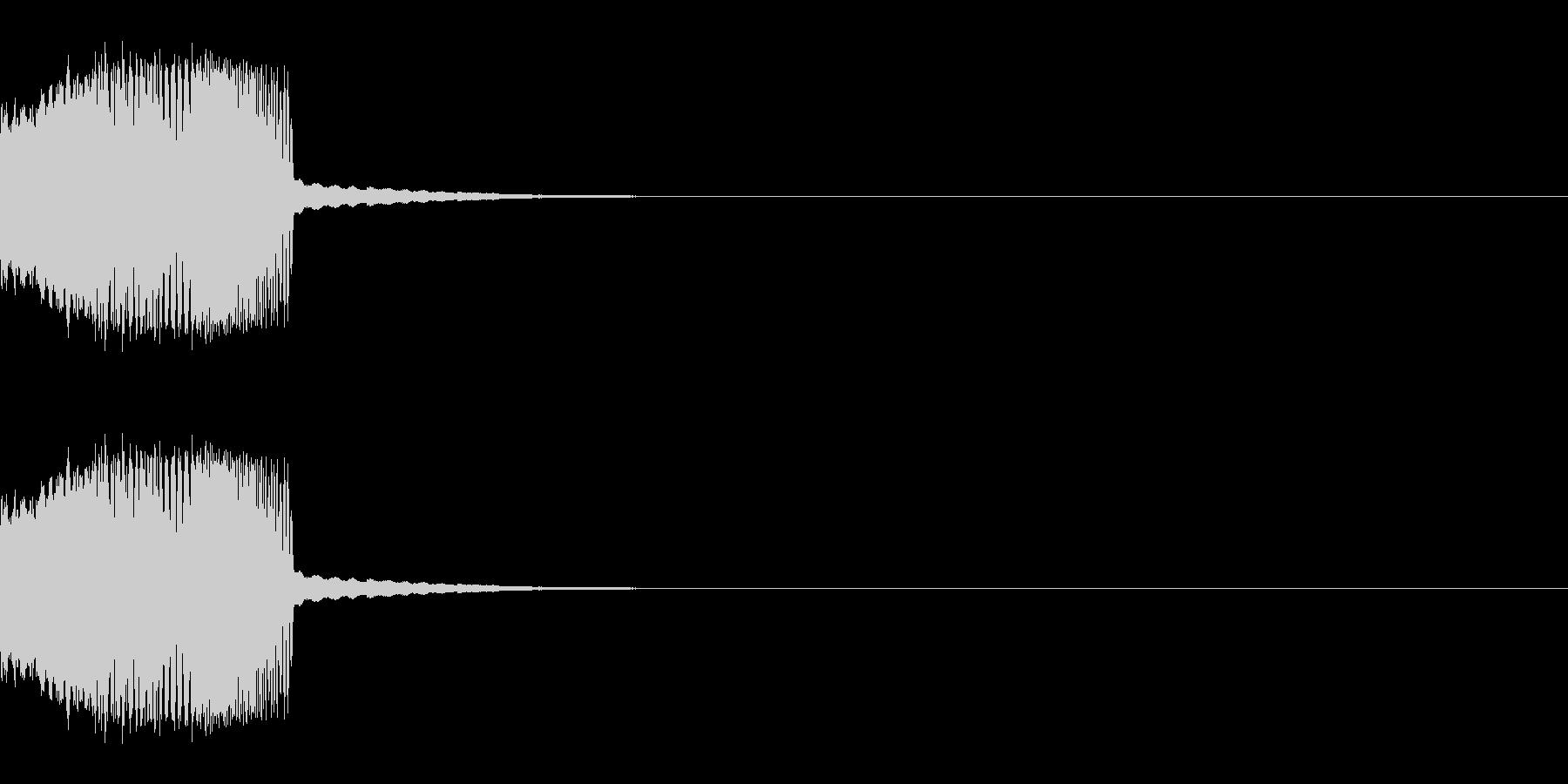チューン:画面などを消す描写にの未再生の波形