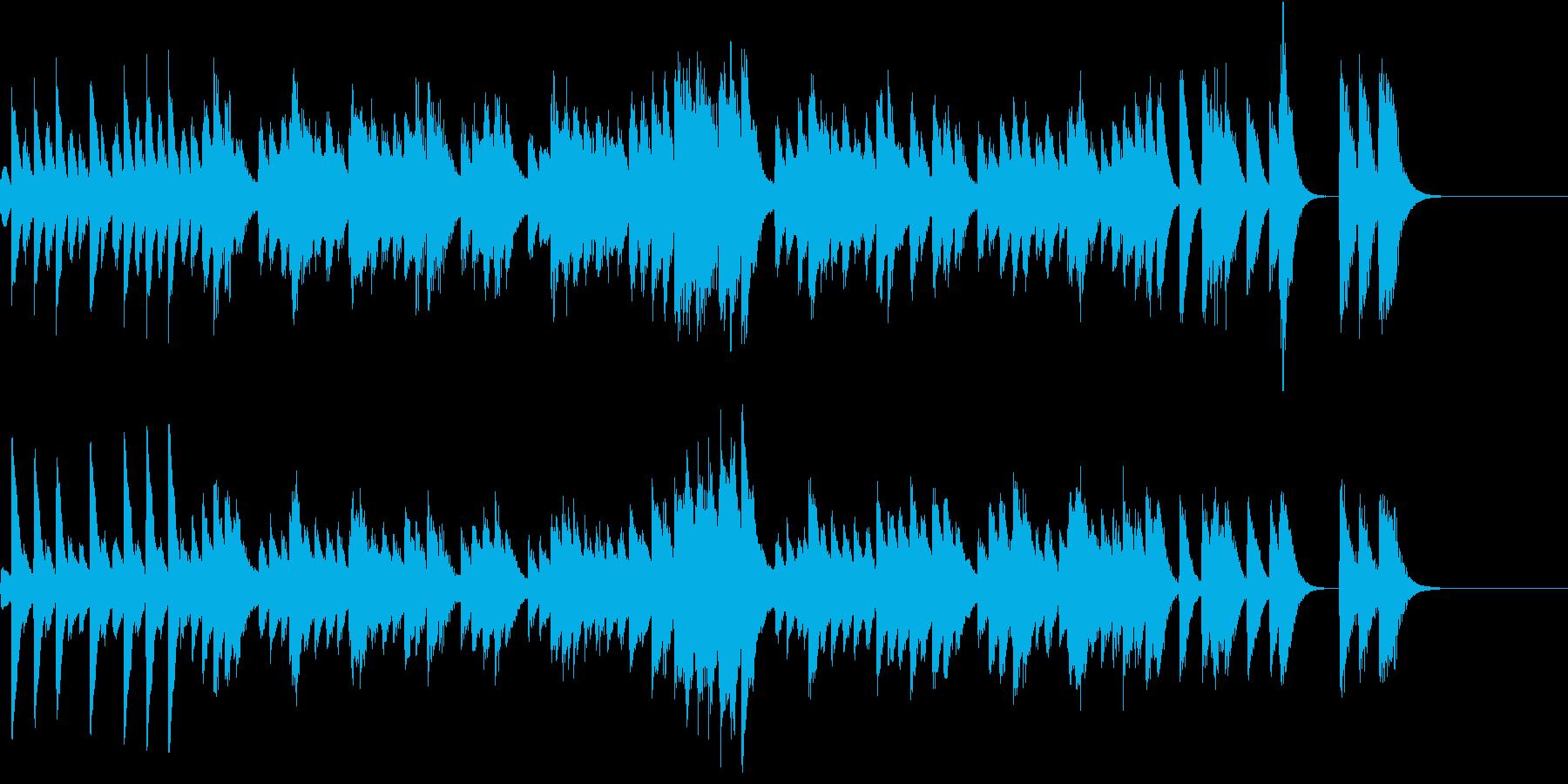 アイルランド民謡のようなピアノジングルの再生済みの波形
