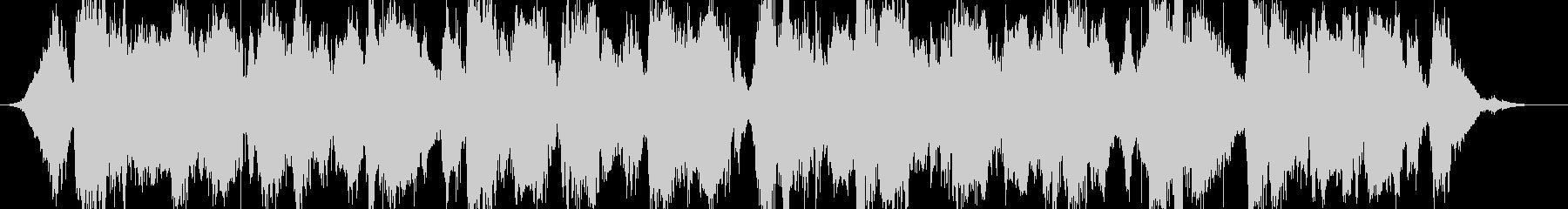 ホラーサスペンスのようなBGMの未再生の波形