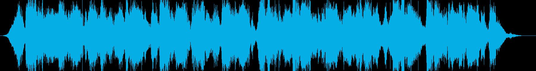 ホラーサスペンスのようなBGMの再生済みの波形