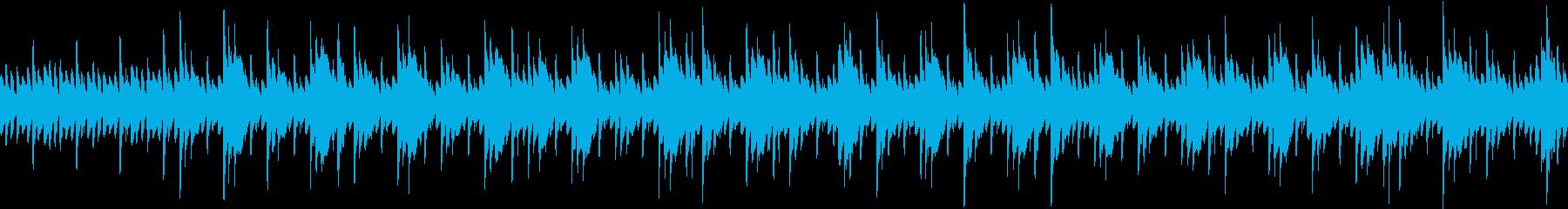 静かで安逸な中国風の背景音楽 ループ仕様の再生済みの波形