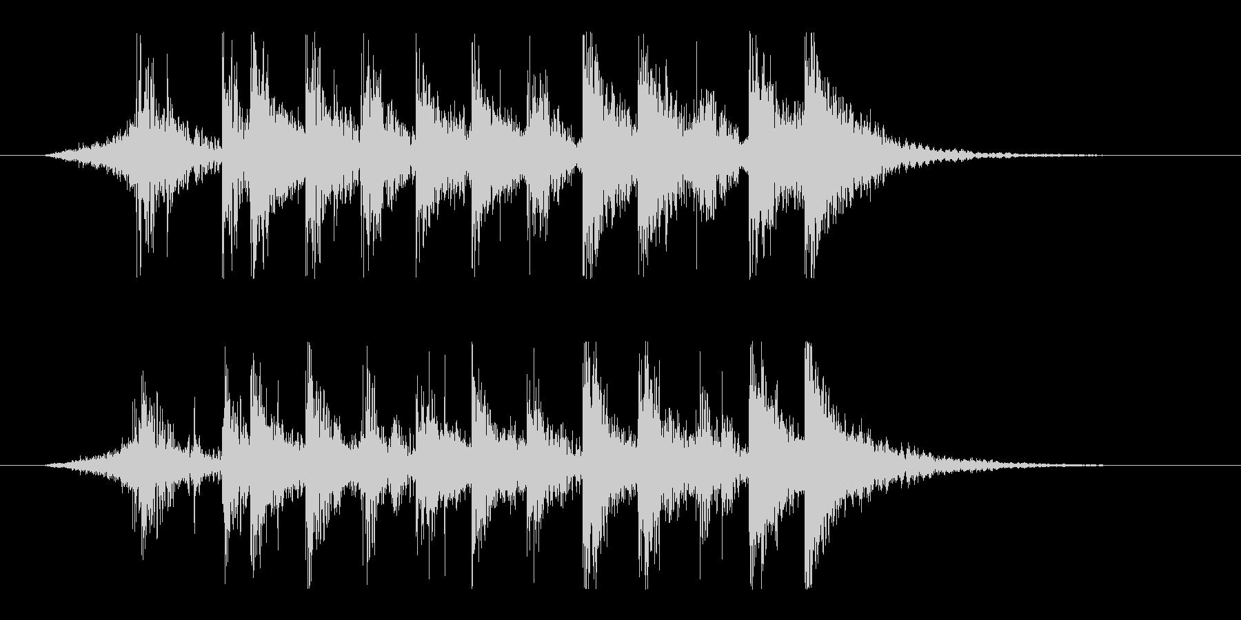 ダイナミック!リズム&パーカッションロゴの未再生の波形