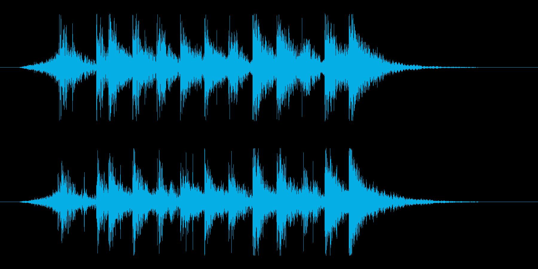 ダイナミック!リズム&パーカッションロゴの再生済みの波形