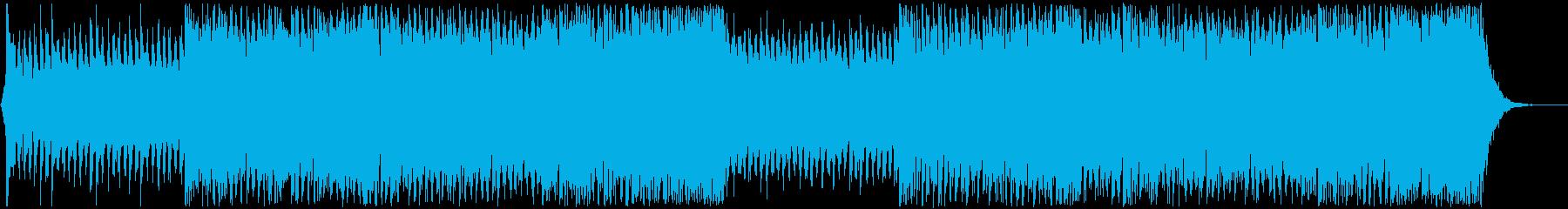 エモーショナルなスポーツハイライトEDMの再生済みの波形