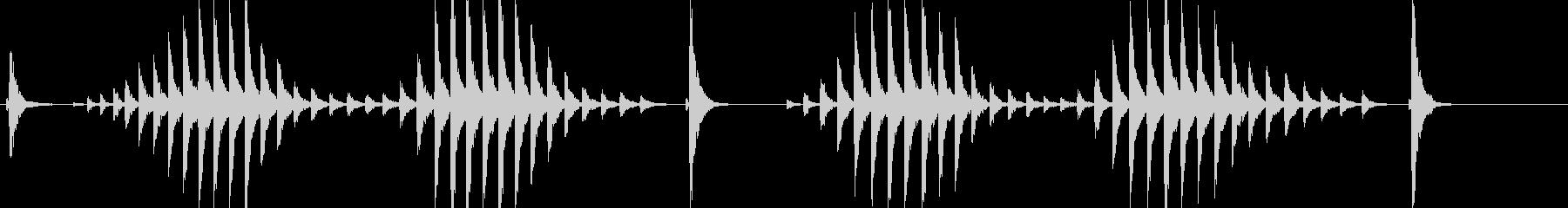 大太鼓13サザ浪歌舞伎情景描写和風和太鼓の未再生の波形
