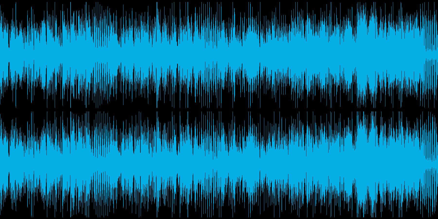 明るい爽快なジャズファンク ※ループ版の再生済みの波形