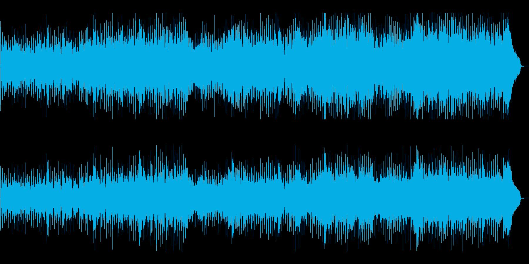 リズミカルで伝統的なフォークミュージックの再生済みの波形
