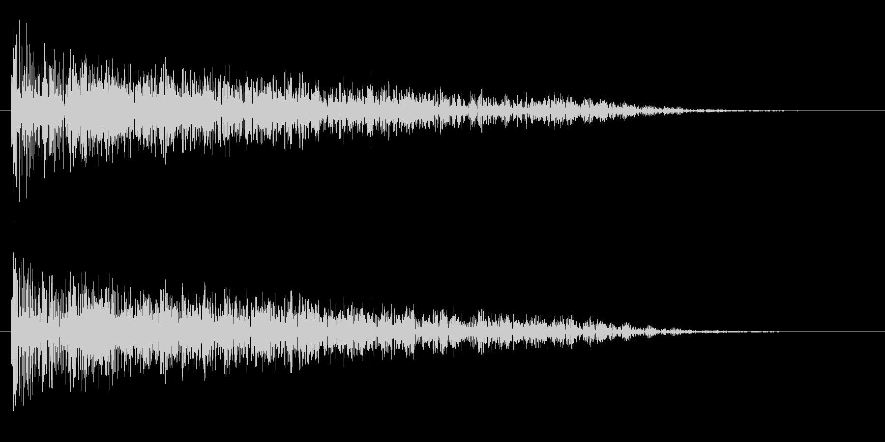 衝撃 歪んだ爆発ステレオ04の未再生の波形