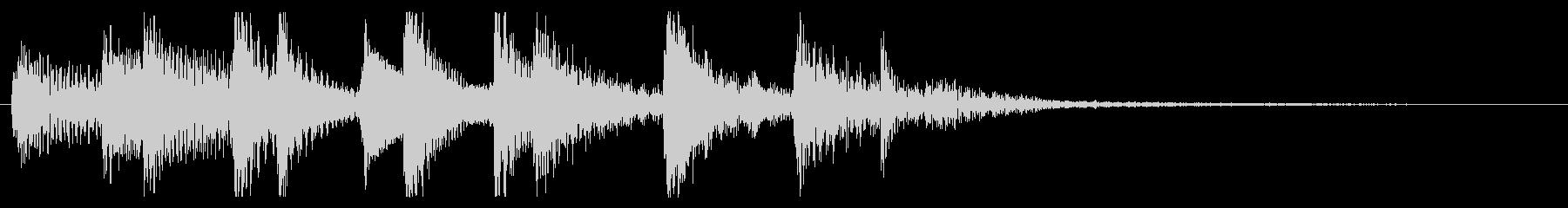 定番ウクレレのハワイアンバンプの未再生の波形