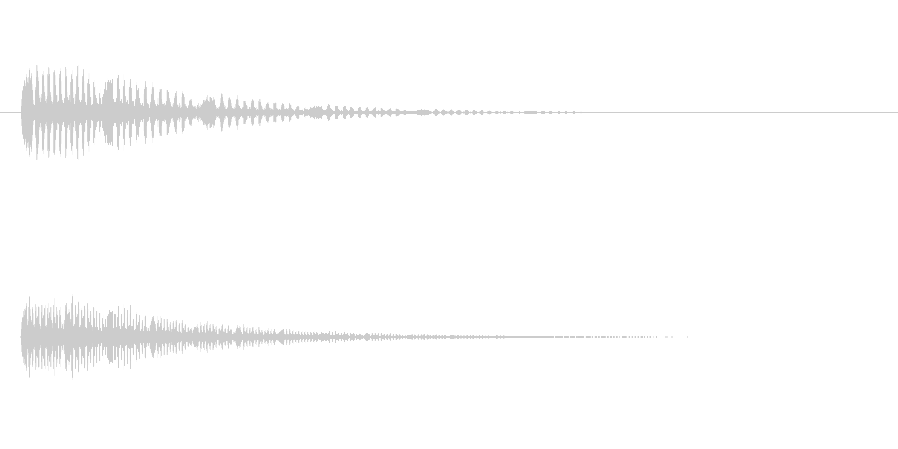 鳥のつぶやき、鳴き声などの音 SE4の未再生の波形