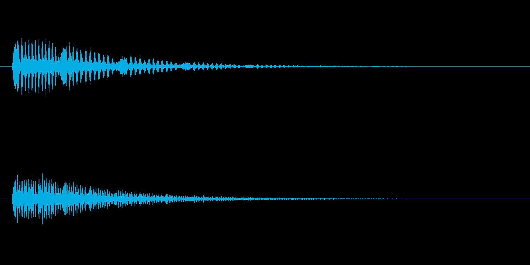 鳥のつぶやき、鳴き声などの音 SE4の再生済みの波形