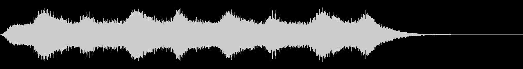ホラー 金切り音の未再生の波形