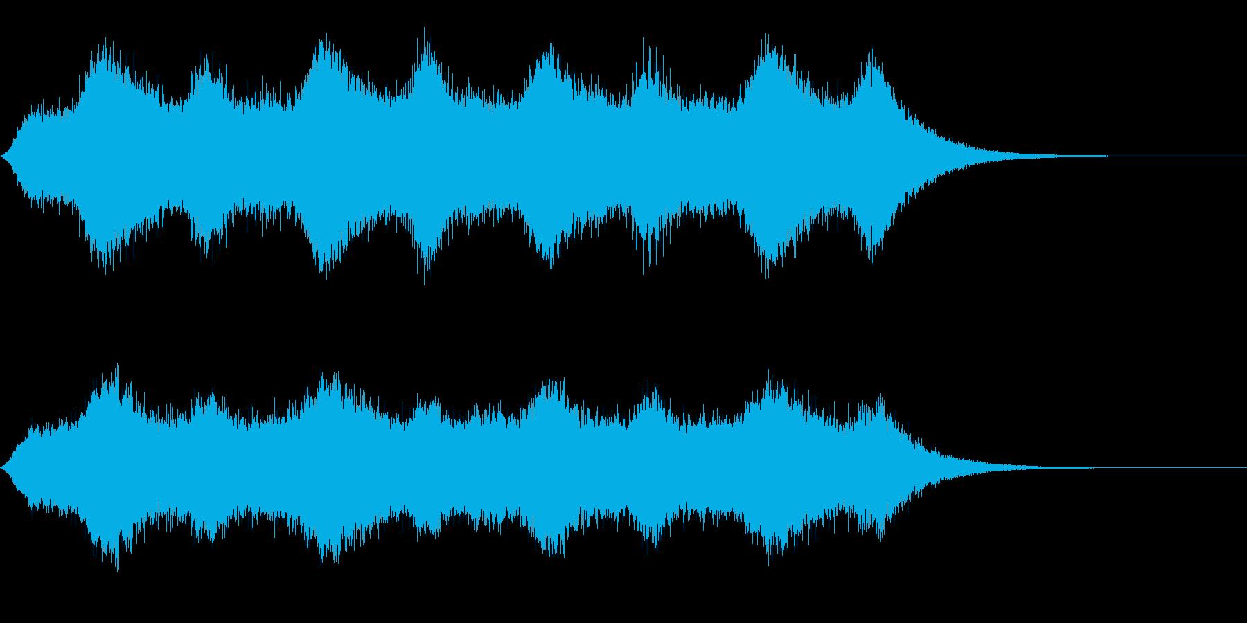ホラー 金切り音の再生済みの波形