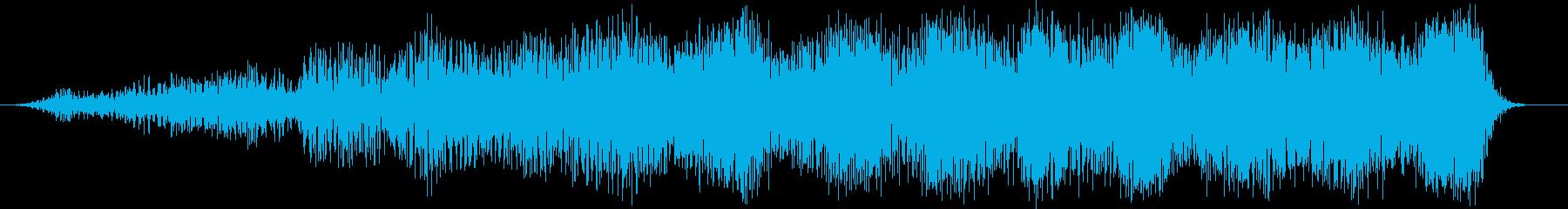 スローディープパルスラッシングパスバイの再生済みの波形