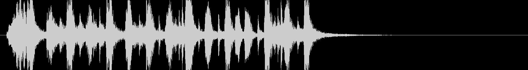 ダークでコミカルなハロウィンのジングルの未再生の波形