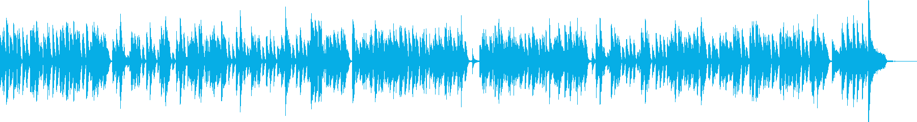 明るいラグタイム・普通のピアノの再生済みの波形