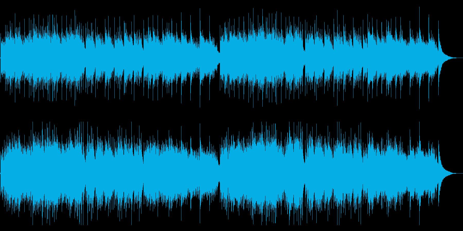 アンビエントな癒しのヒーリングギターの再生済みの波形