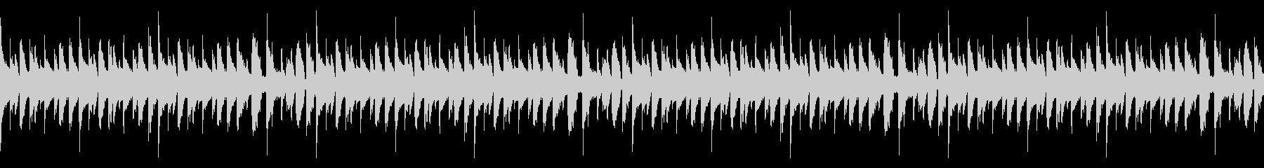 マリンバで陽気なラテン系のBGMの未再生の波形