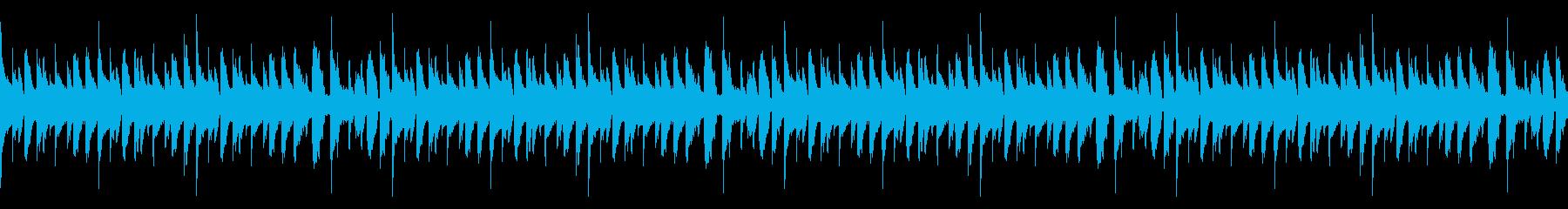 マリンバで陽気なラテン系のBGMの再生済みの波形