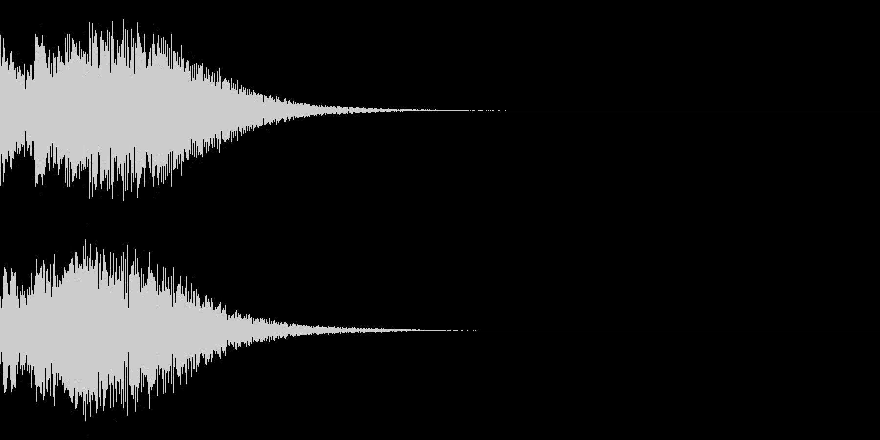 光 キュイン 目立つ カットイン 07の未再生の波形