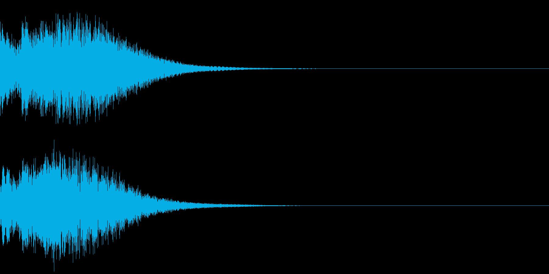 光 キュイン 目立つ カットイン 07の再生済みの波形
