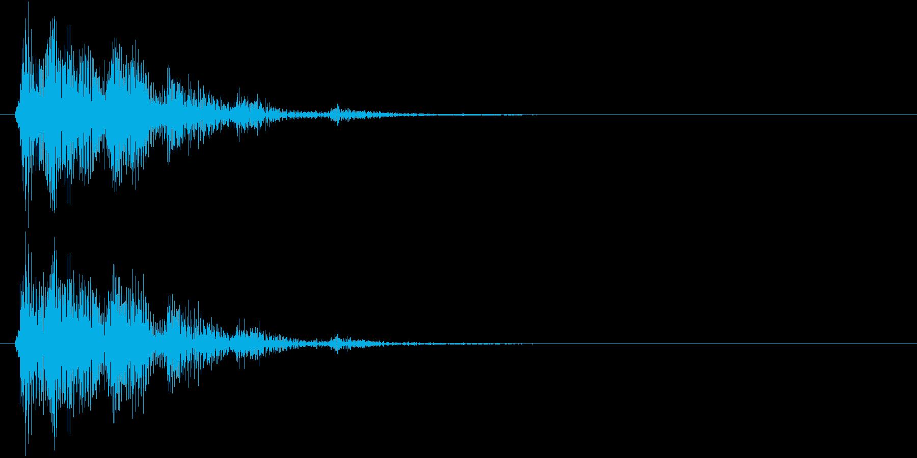 【生録音】お箸の音 57 お茶碗に置くの再生済みの波形