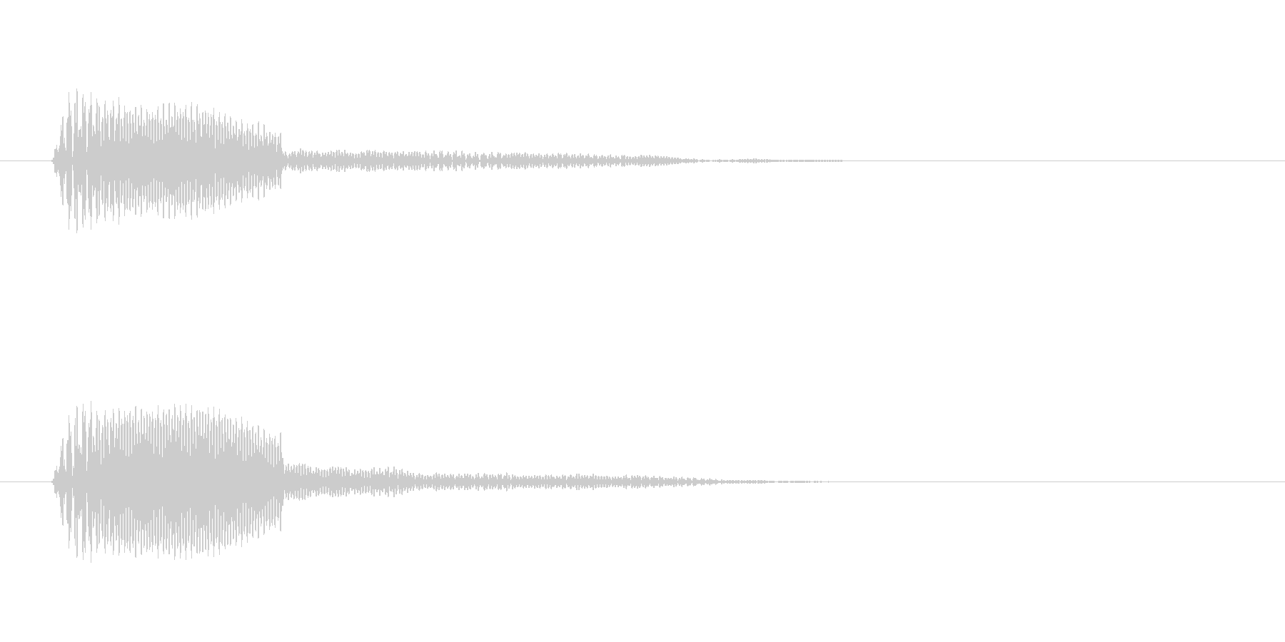 ポン、という高くてはっきりした音の未再生の波形
