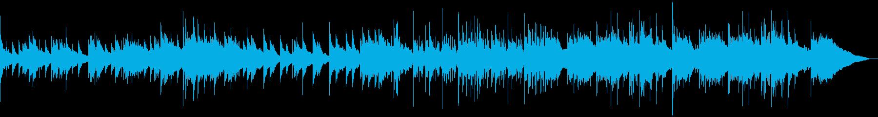 カノン進行の感動系ピアノソロBGMの再生済みの波形
