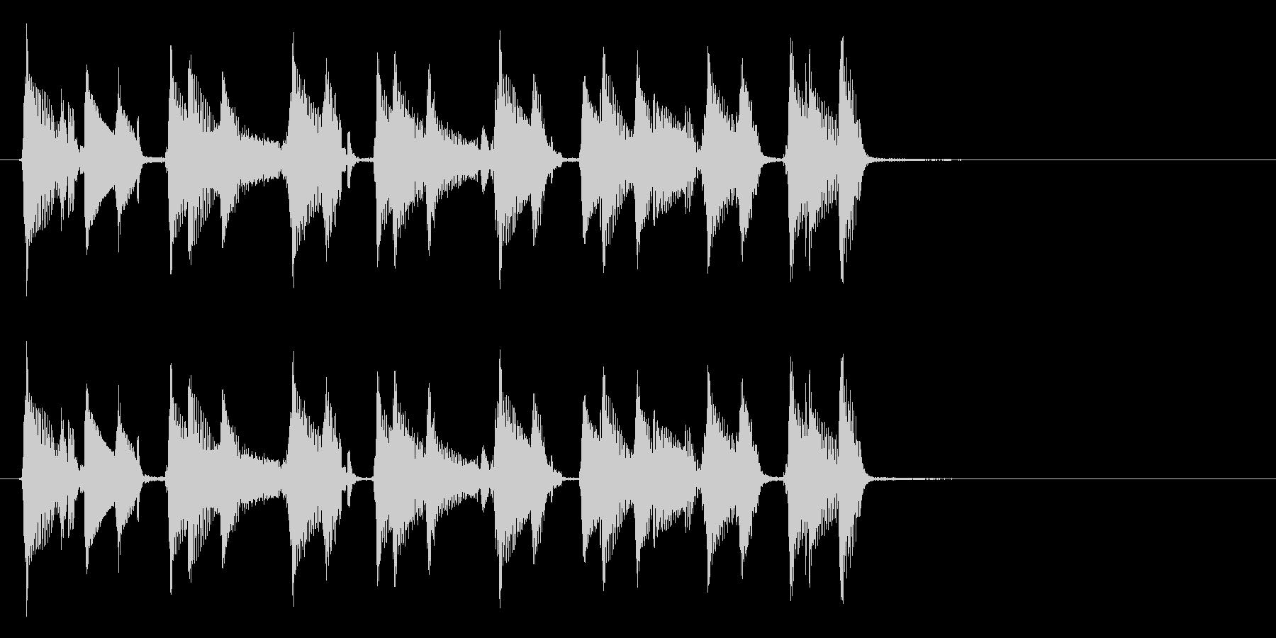 生演奏のウクレレ。の未再生の波形