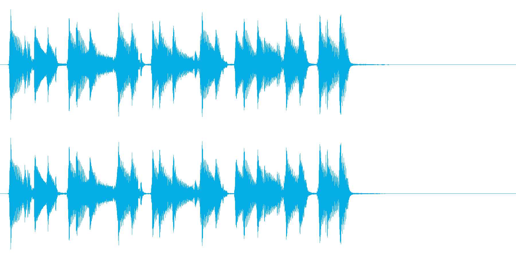 生演奏のウクレレ。の再生済みの波形